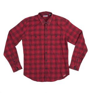Slate & Stone L Large Button Front Shirt Plaid New
